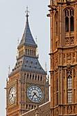 Big Ben, Westminster Palace aka Houses of Parliament, Westminster, London, England, United Kingdom