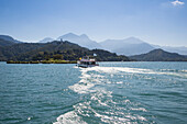 Sightseeing boat on Sun Moon Lake, Yuchi, Nantou County, Taiwan