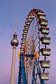 Ferris Wheel at the Christmas Market on Alexander Square, Alexanderplatz, Berlin, Germany
