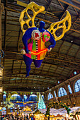 Guardian Angel by Niki de St. Phalle in the Main Station, Christmas Market, Zurich, Switzerland