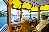 Mr Profazi, captain of an excursion boat on lake Titisee, Black Forest, Baden-Wuerttemberg, Germany