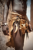 Detail of traditional jewellery of the Damara people, Twyfelfontein, Damaraland, Namibia, Africa, UNESCO World Heritage Site