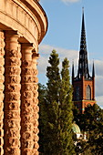 Addition to Swedens Parliament and Riddaholmen church, Stockholm, Sweden