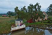 Terrace for a perfect sundowner, Gota canal, Sjoetorp, Sweden