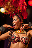 Samba dancer in a variety theater, Rio de Janeiro, Rio de Janeiro, Brazil
