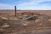 Humberstone Saltpeter Works in the Atacama Desert, Pozo Almonte, Region of Tarapaca, Chile