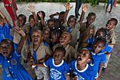 Children cheering, Port Antonio, Portland, Jamaica