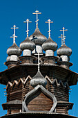 Wooden church of the Intercession of the Virgin, Kizhi Pogost, Kizhi island, Lake Onega, Karelia, Russia