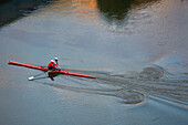 Single scull, Urumea river, Donostia (San Sebastian), Basque Country, Spain