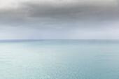 Seascape with overcast sky
