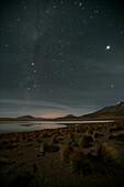 Stars shine bright over Altiplano, Bolivia