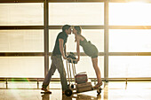 Young couple in airport