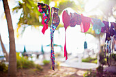 Swimwear on clothesline, St Maarten, Netherlands