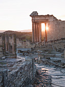 Ancient Roman city of Dougga, a UNESCO World Heritage Site in northern Tunisia