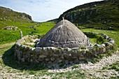 Iron Age village nearby Bostadh Beach. Great Bernera. Lewis island. Outer Hebrides. Scotland, UK.