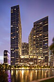 Icon Brickell, from Brickell Key, Miami, Florida, USA (architect = Arquitectonica).