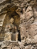 The Yungang Grottoes (Wuzhoushan Grottoes in ancient time) are ancient Chinese Buddhist temple grottoes near the city of Datong in the province of Shanxi. They are excellent examples of rock-cut architecture and one of the three most famous ancient Buddhi