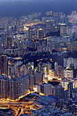 Aerial view of buildings, Kowloon, Hong Kong, China, East Asia.