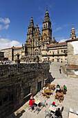 Cathedral on Plaza del Obradoiro, World Heritage Site, Santiago de Compostela, Way of St James, A Coruña province, Galicia, Spain