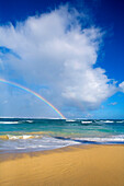 'Rainbow at Baldwin Beach; Maui, Hawaii, United States of America'
