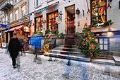 Petit-Champlain Street In Quartier Petit-Champlain, Quebec City Quebec