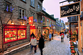Petit-Champlain Street In Quartier Petit-Champlain, Quebec City, Quebec
