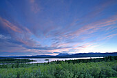 Clearing Storm Clouds Over Teslin Lake, Teslin, Yukon.