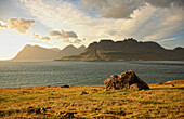 Looking South Down The Strandir Coast At Sunrise, Western Fjords, Iceland
