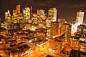 'City Skyline At Night; Toronto Ontario Canada'