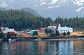 View Of The Native Village Of Tatitlek, Prince William Sound, Southcentral Alaska, Spring