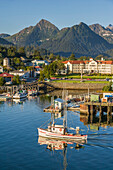 Commercial Trolling Vessel *Sultan* Passes Through Sitka Channel At Sitka, Alaska.
