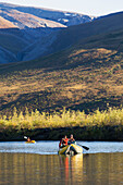Noatak River Rafting Trip In The Brooks Range, Gates Of The Arctic National Park, Northwestern Alaska, Above The Arctic Circle, Arctic Alaska, Summer.