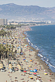 'Bajondillo Beach And Playamar Beach; Torremolinos, Costa Del Sol, Malaga Province, Spain'