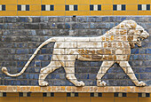 'Glazed Brick Lion In Relief From The Procession Street, Babylon, Dating From The Nebuchadnezzar Ii Period, Archeological Museum; Istanbul, Turkey'
