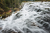 'Blurred Water Of The Huge Waterfall Cascade At Jiuzhaigou Valley National Park; Jiuzhaigou, Sichuan, China'
