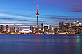 'City Skyline At Night; Toronto, Ontario, Canada'
