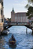 'Boats On A Canal; Venice, Italy'