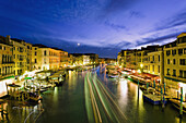 'Grand Canal From Rialto Bridge At Dusk; Venice, Italy'