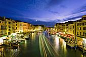 'Grand Canal From Rialto Bridge At Dusk; Venice, Italy'