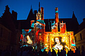 madame de maintenon ou l'ombre du soleil' (the shadow of the sun), sound and light performance evoking the history of the secret wife of king louis xiv, scenography by xavier de richemond, chateau de maintenon, eure-et-loir (28), france