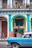 Street scene, daily life in the streets (avenida de italia), havana, cuba, the caribbean