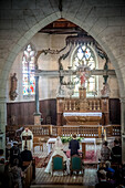 Religious wedding ceremony, church of boissy-les-perche, eure et loir (28), france