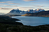 Late afternoon light in the Torres del Paine National Park, Patagonia, Chile, South America