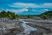 Little creek in front of the Tolbachik volcano, Kamchatka, Russia, Eurasia