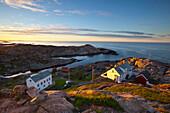 Coastal landscape vista from the idyllic Lindesnes Fyr Lighthouse, Lindesnes, Vest-Agder, Norway, Scandinavia, Europe