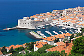 St. John Fort, Old harbour and Old Town, UNESCO World Heritage Site, Dubrovnik, Dalmatia, Croatia, Europe