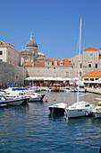 Harbour. Old Town, UNESCO World Heritage Site, Dubrovnik, Dalmatia, Croatia, Europe