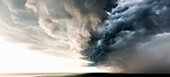 Dark clouds in dramatic sky, Tanjung Bungah, Penang, Malaysia