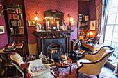 England, London, 221B Baker Street, Sherlock Holmes Museum, Sitting Room