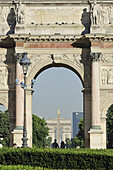 France, Paris, 1st district, Garden of the Tuileries, the Arc de Triomphe of the Carrousel